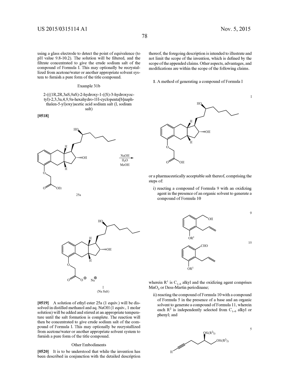 Methods of Synthesizing a Prostacyclin Analog - diagram, schematic, and image 79