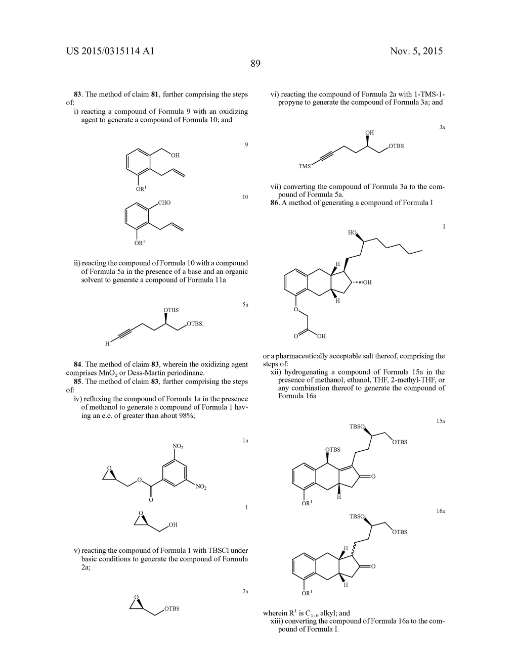 Methods of Synthesizing a Prostacyclin Analog - diagram, schematic, and image 90