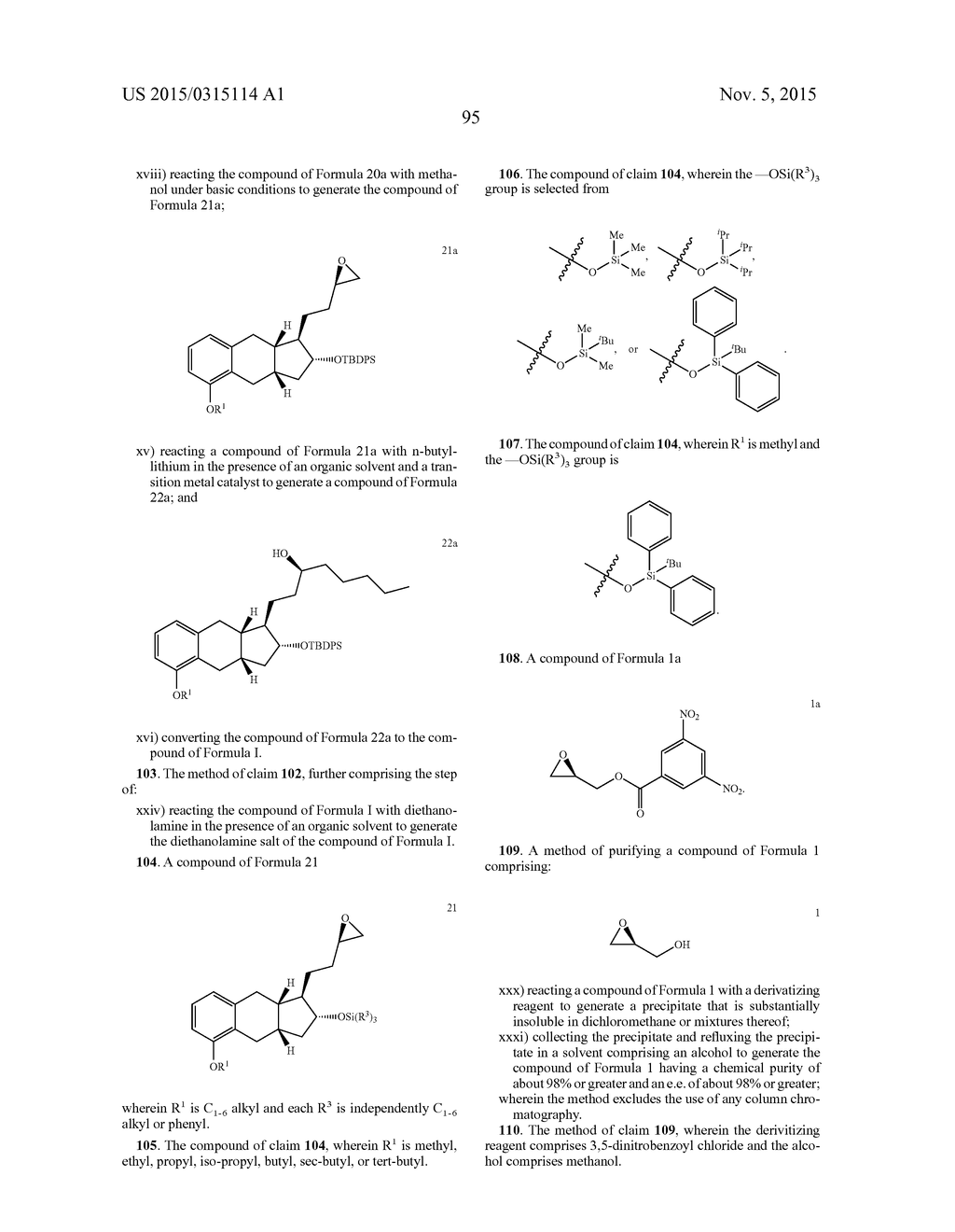 Methods of Synthesizing a Prostacyclin Analog - diagram, schematic, and image 96