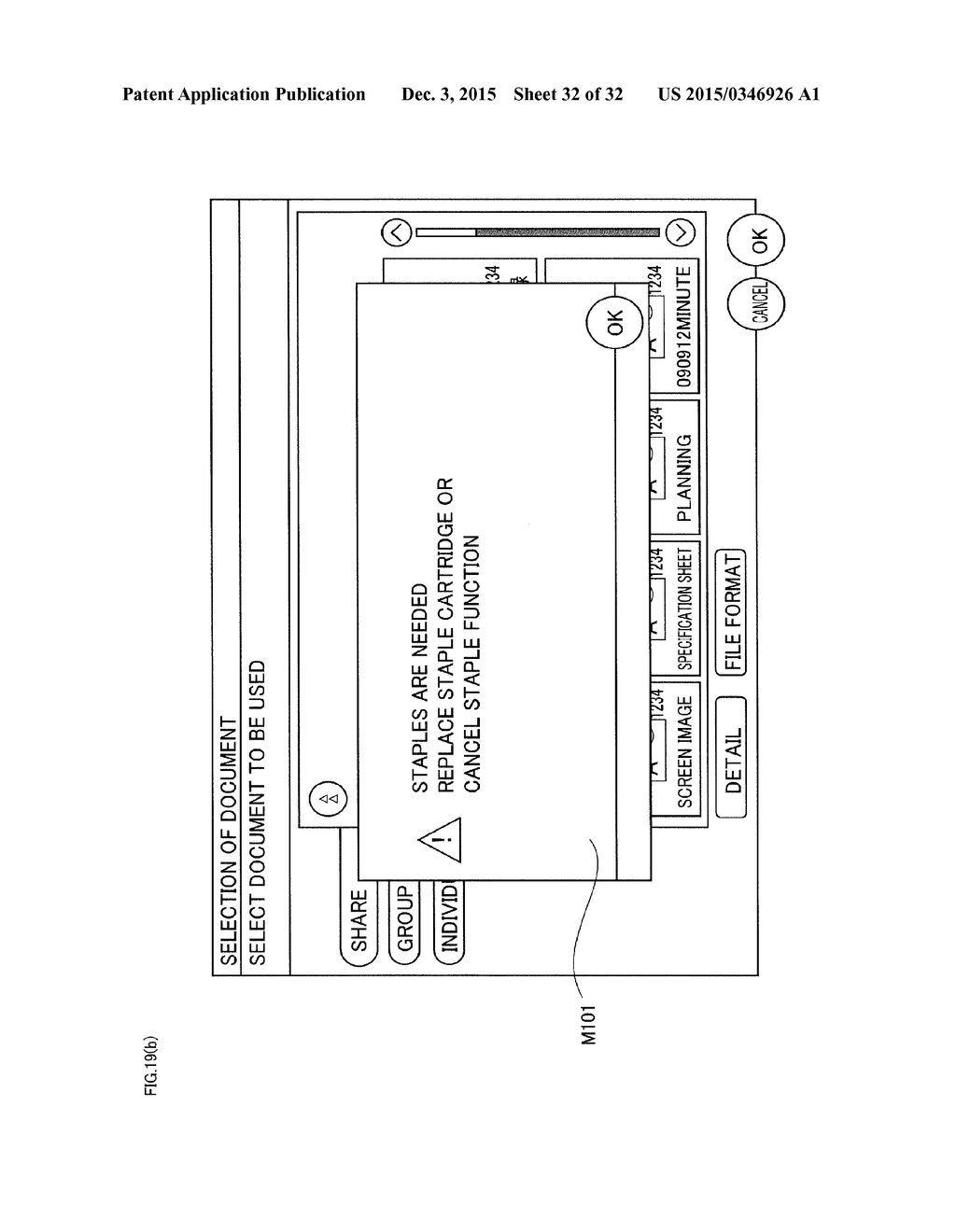 USER INTERFACE PROVIDED WITH DISPLAY UNIT FOR DISPLAYING SCREEN - diagram, schematic, and image 33