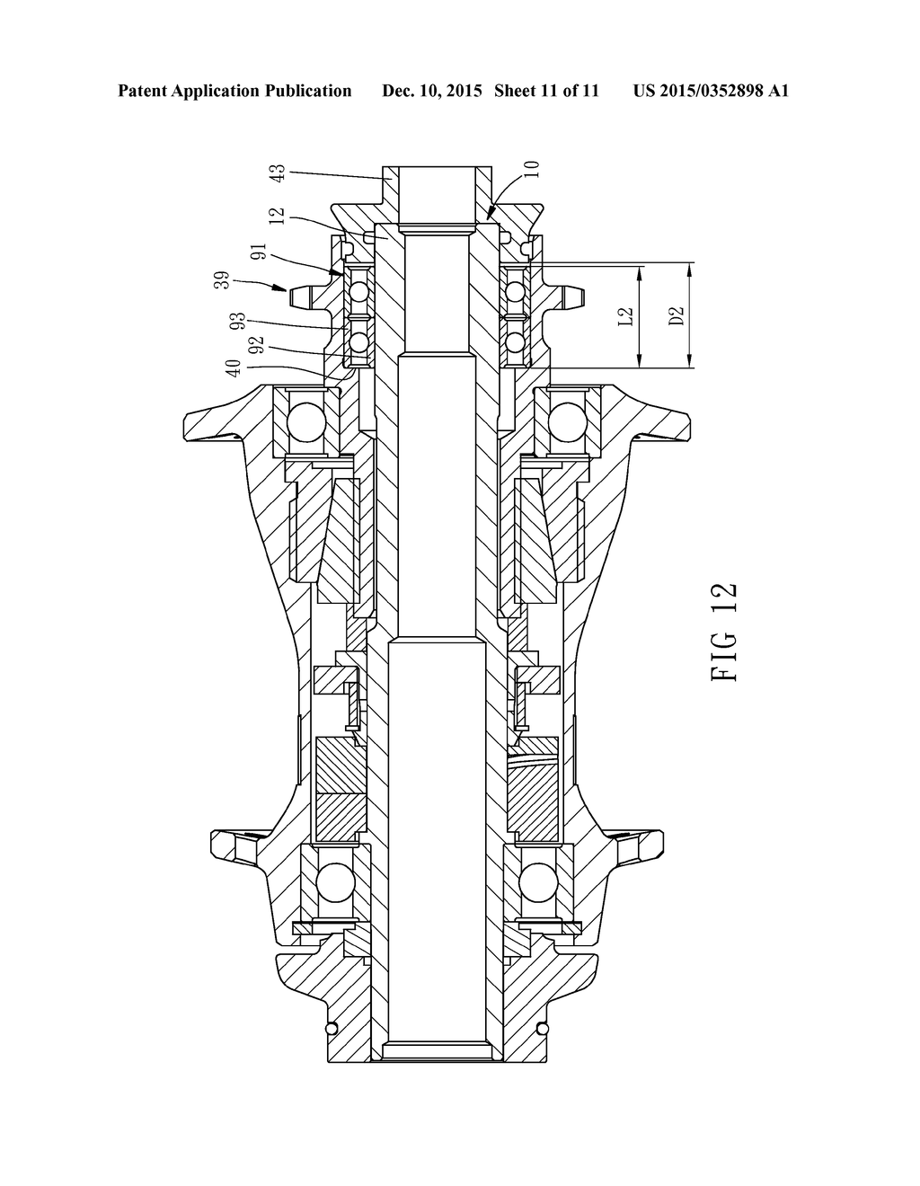 20150352898_12 bicycle freecoaster hub diagram, schematic, and image 12
