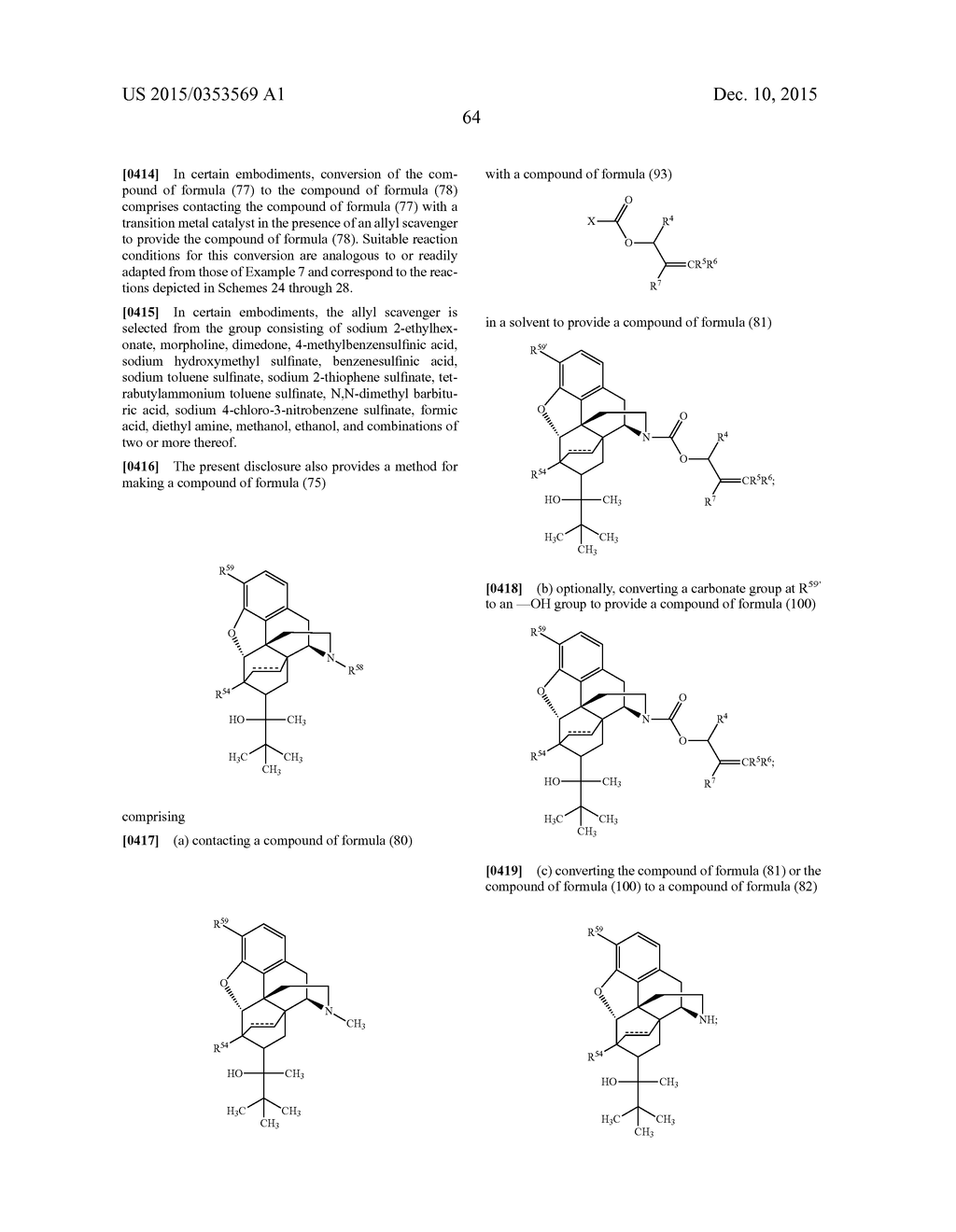 TRANSITION METAL-CATALYZED PROCESSES FOR THE PREPARATION OF N-ALLYL     COMPOUNDS AND USE THEREOF - diagram, schematic, and image 65