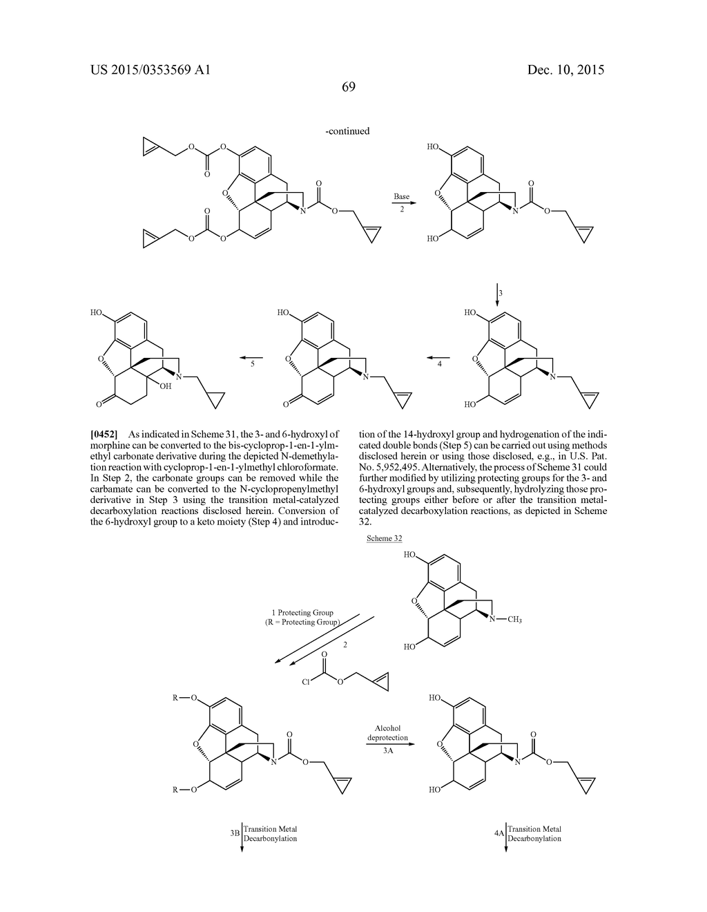 TRANSITION METAL-CATALYZED PROCESSES FOR THE PREPARATION OF N-ALLYL     COMPOUNDS AND USE THEREOF - diagram, schematic, and image 70