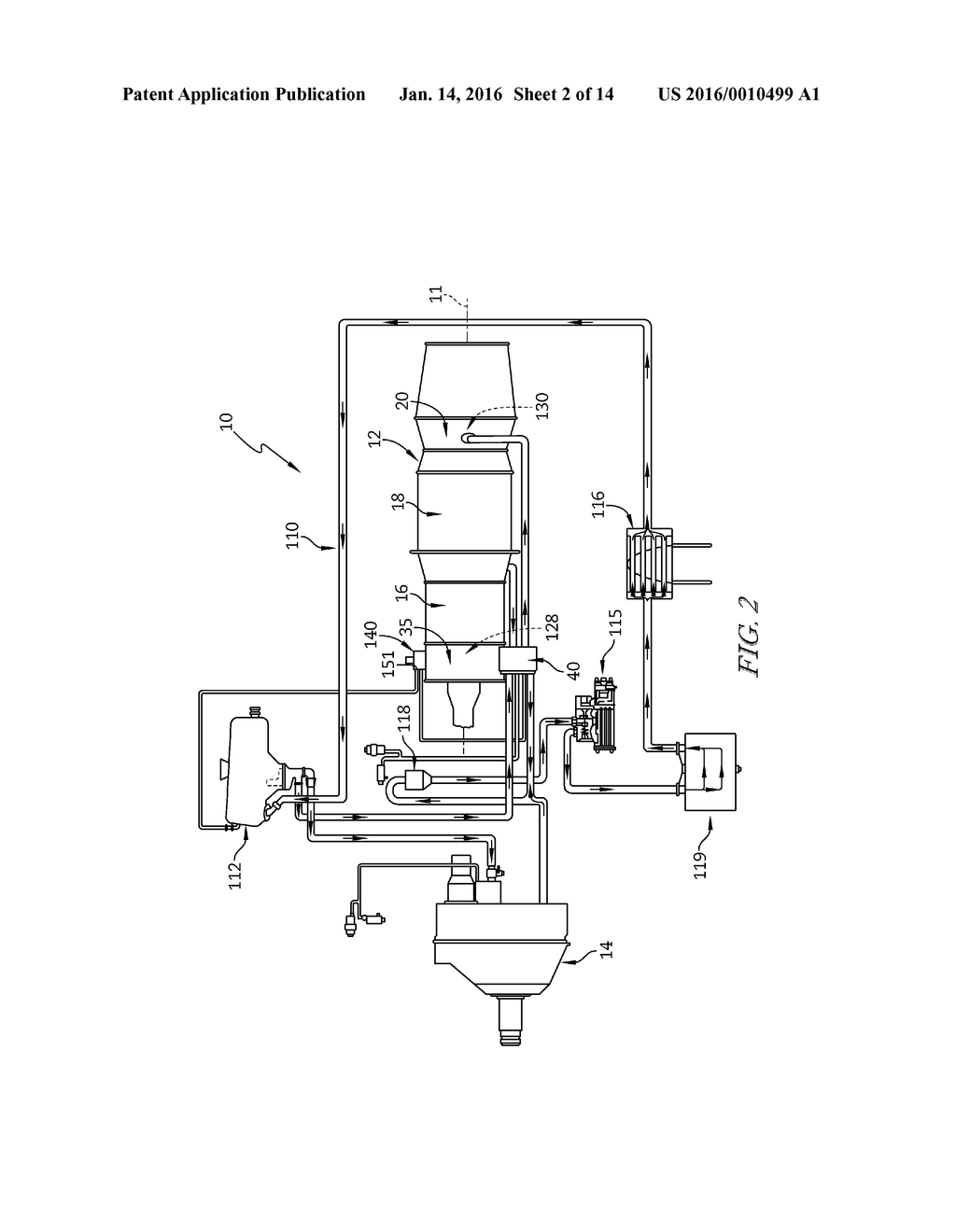 LUBRICATION SYSTEM FOR A GAS TURBINE ENGINE - diagram, schematic, and image  03