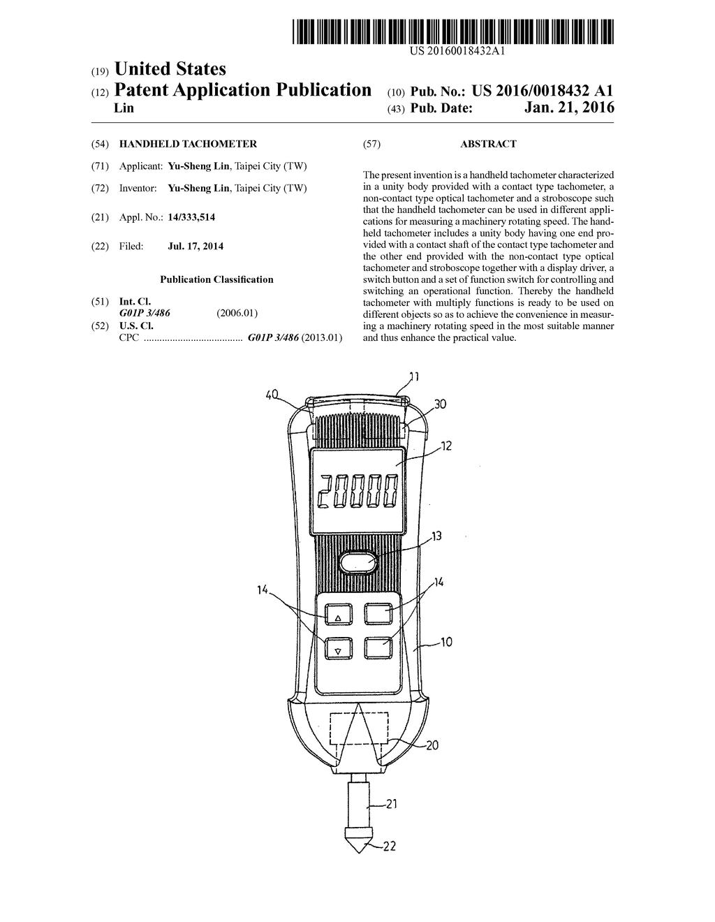 Handheld Tachometer - diagram, schematic, and image 01