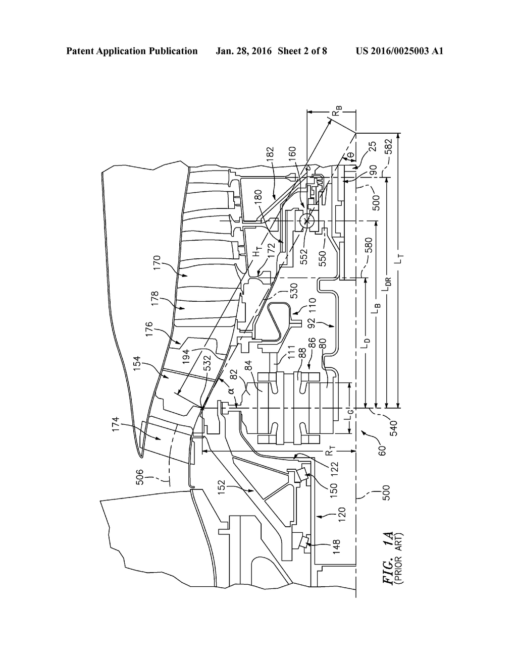 Turbofan Engine Bearing and Gearbox Arrangement - diagram, schematic, and  image 03