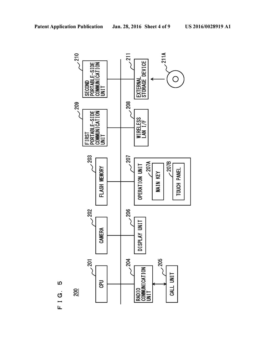 COOPERATION SYSTEM INCLUDING COOPERATING PORTABLE INFORMATION DEVICE AND     IMAGE PROCESSING APPARATUS, AND COOPERATION METHOD - diagram, schematic, and image 05