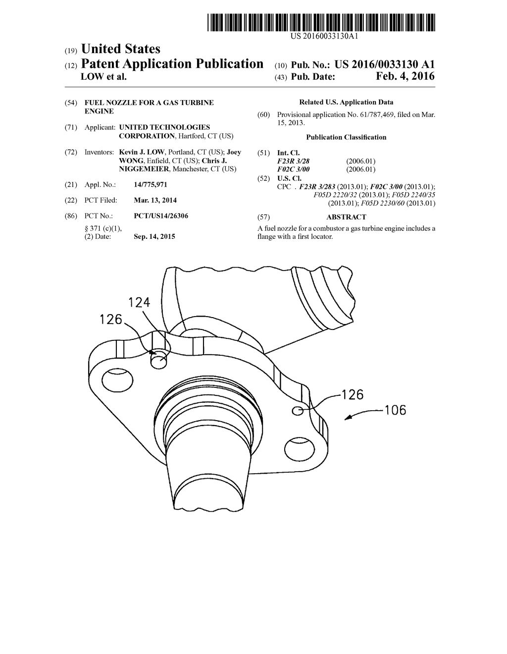 Fuel Nozzle For A Gas Turbine Engine Diagram Schematic And Image 01