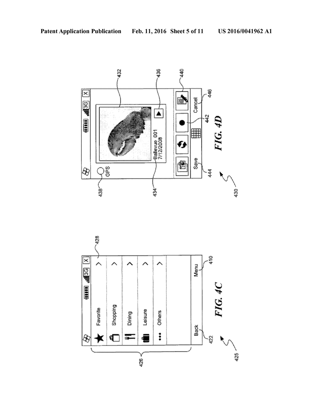 METHOD AND SYSTEM FOR MANAGING IMAGES AND GEOGRAPHIC LOCATION DATA IN A     MOBILE DEVICE - diagram, schematic, and image 06