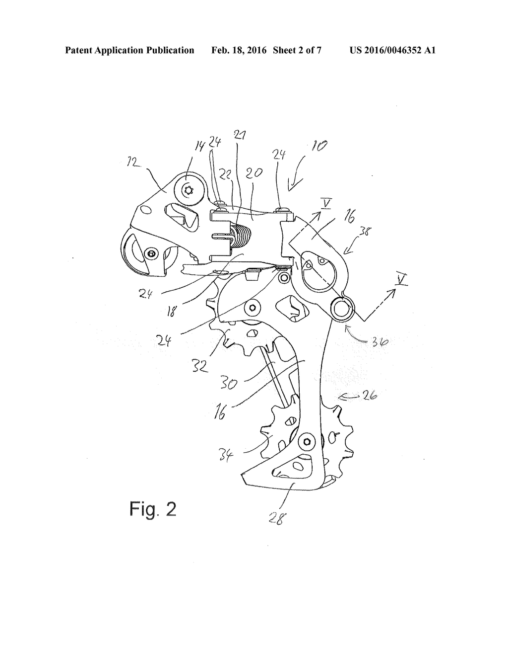 Bicycle Rear Derailleur with a Damper embly - diagram ... on
