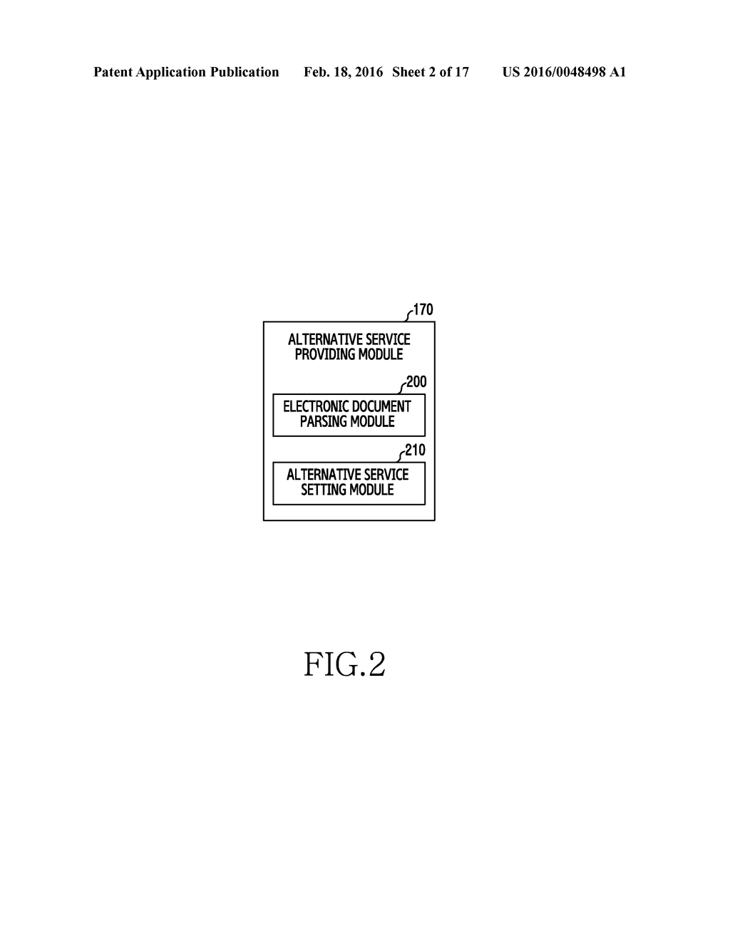 METHOD FOR PROVIDING ALTERNATIVE SERVICE AND ELECTRONIC DEVICE THEREOF - diagram, schematic, and image 03