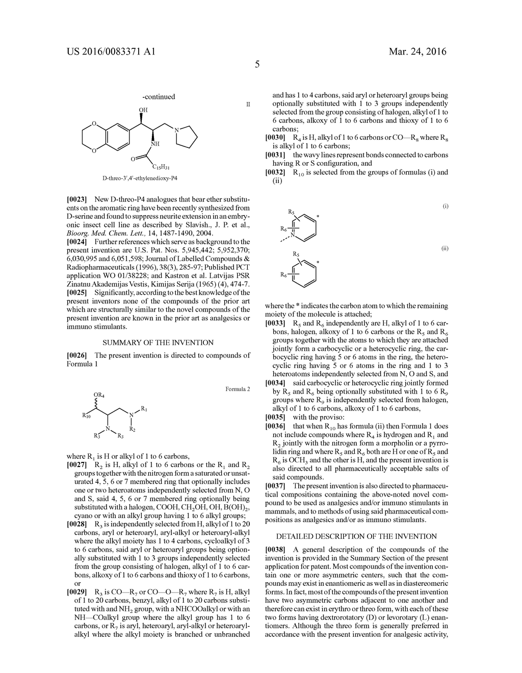 1-ARYL-1-HYDROXY-2,3-DIAMINO-PROPYL AMINES,     1-HETEROARYL-1-HYDROXY-2,3-DIAMINO-PROPYL AMINES AND RELATED COMPOUNDS     HAVING ANALGESIC AND/OR IMMUNO STIMULANT ACTIVITY - diagram, schematic, and image 06