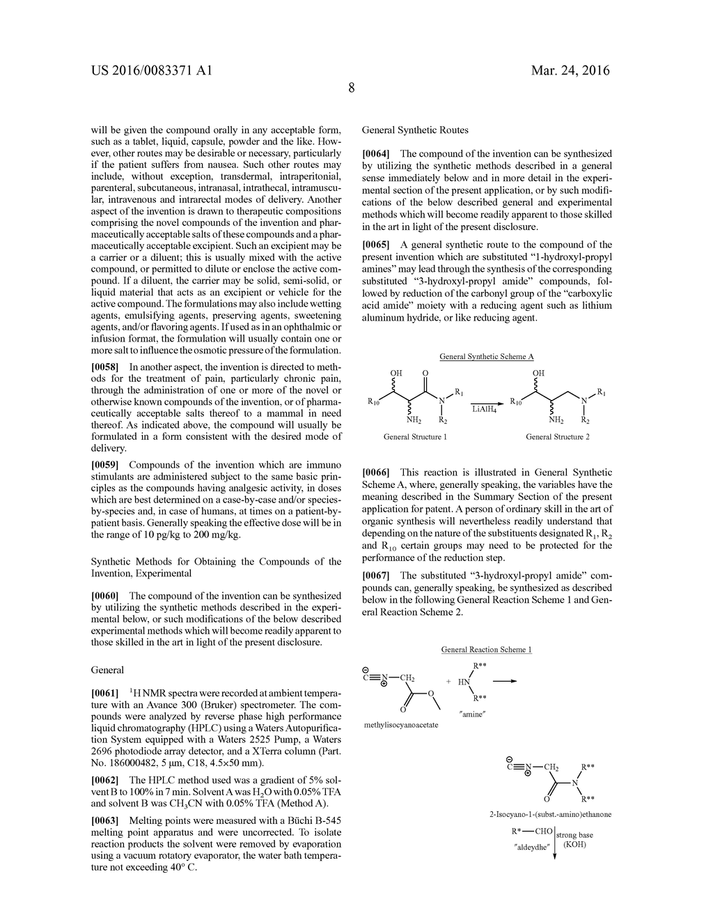 1-ARYL-1-HYDROXY-2,3-DIAMINO-PROPYL AMINES,     1-HETEROARYL-1-HYDROXY-2,3-DIAMINO-PROPYL AMINES AND RELATED COMPOUNDS     HAVING ANALGESIC AND/OR IMMUNO STIMULANT ACTIVITY - diagram, schematic, and image 09