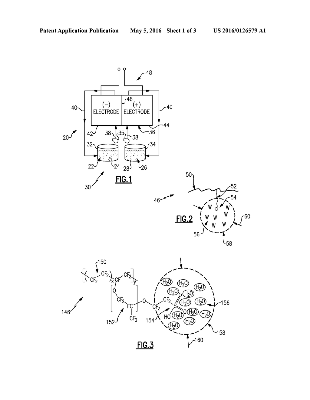 FLOW BATTERY WITH HYDRATED ION-EXCHANGE MEMBRANE HAVING MAXIMUM