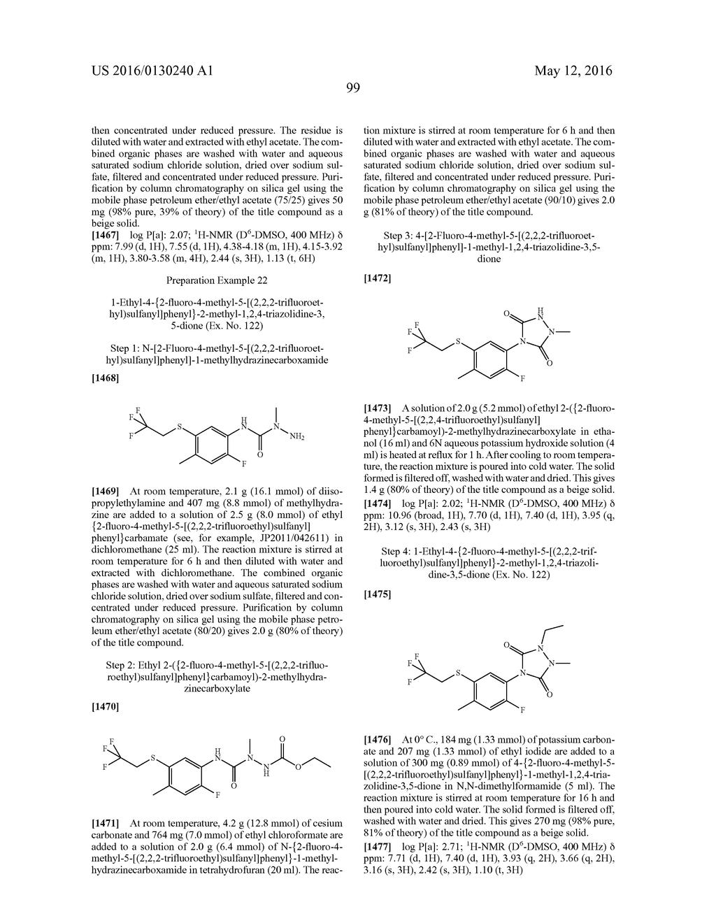 ARYL SULFIDE DERIVATIVES AND ARYL SULFOXIDE DERIVATIVES AS ACARICIDES AND     INSECTICIDES - diagram, schematic, and image 100