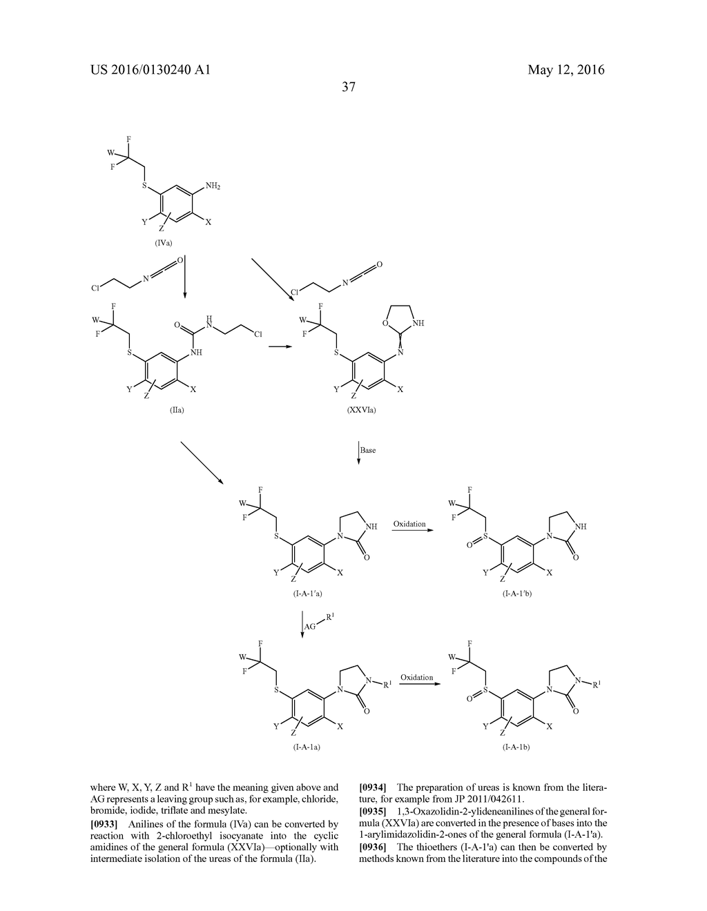 ARYL SULFIDE DERIVATIVES AND ARYL SULFOXIDE DERIVATIVES AS ACARICIDES AND     INSECTICIDES - diagram, schematic, and image 38