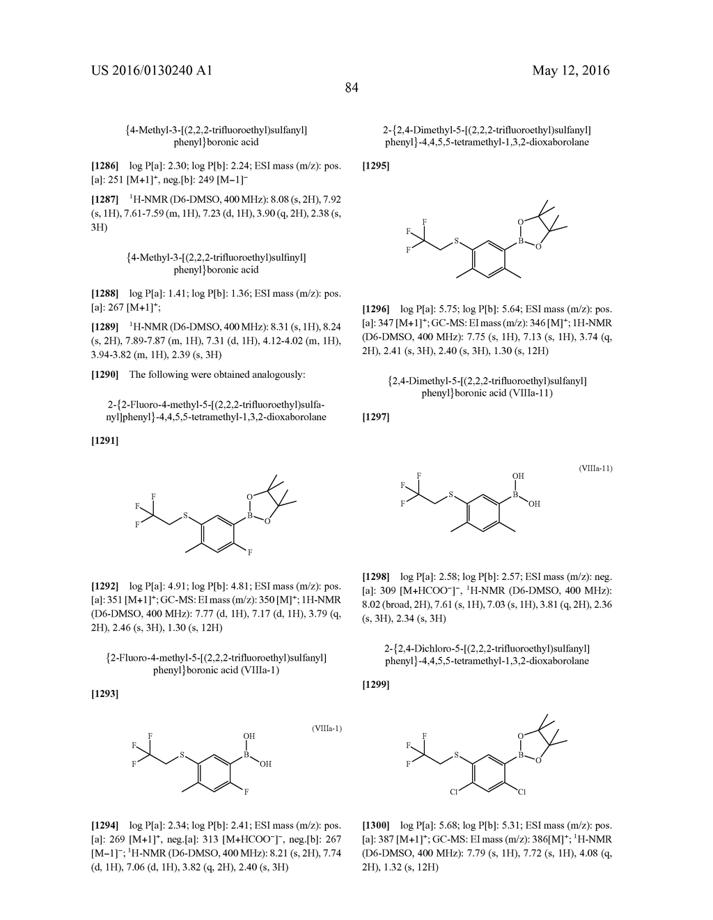 ARYL SULFIDE DERIVATIVES AND ARYL SULFOXIDE DERIVATIVES AS ACARICIDES AND     INSECTICIDES - diagram, schematic, and image 85