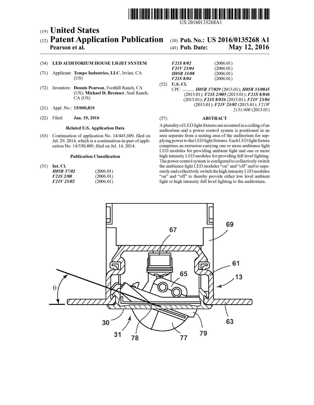 sc 1 st  Patents & LED Auditorium House Light System - diagram schematic and image 01 azcodes.com