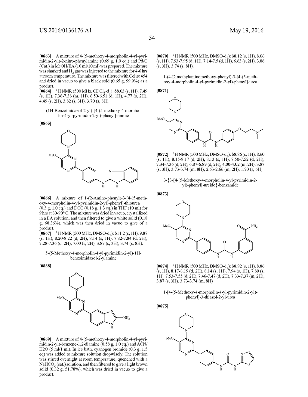 NOVEL PYRIMIDINE COMPOUNDS AS mTOR AND PI3K INHIBITORS - diagram, schematic, and image 55