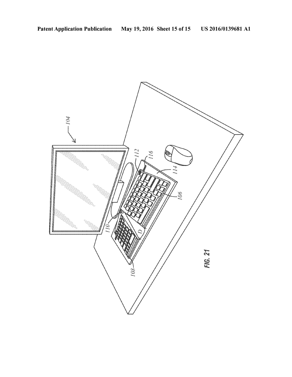 Adjustable Ergonomic Keyboard - diagram, schematic, and image 16