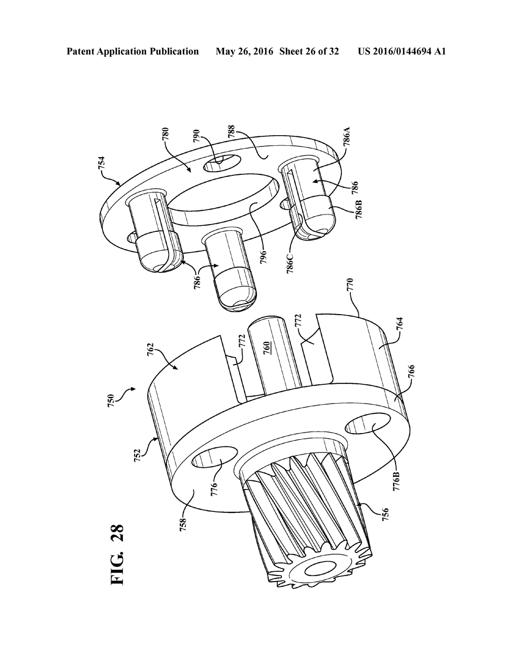 ELECTROMECHANICAL STRUT WITH MOTOR-GEARBOX ASSEMBLY HAVING DUAL