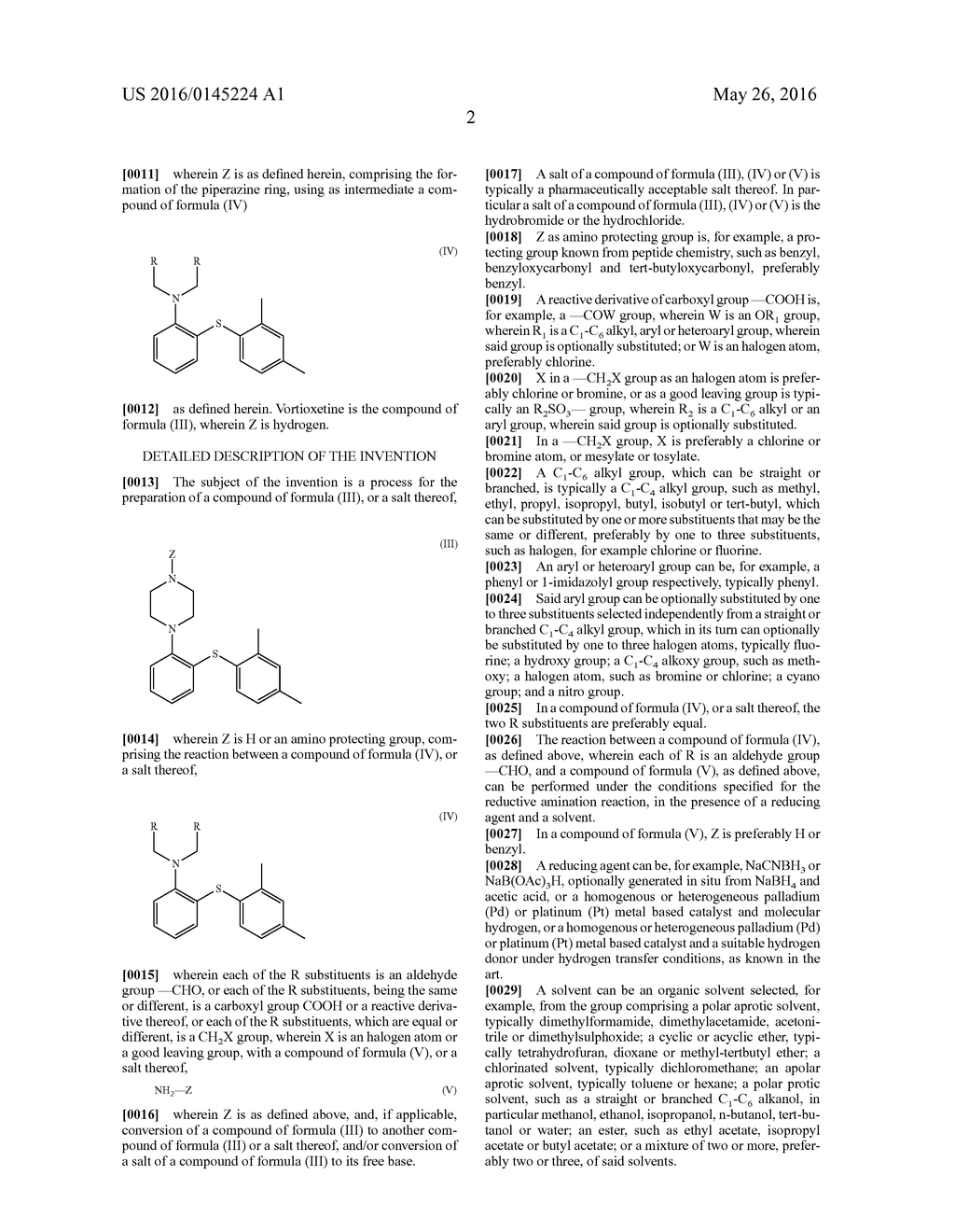 PROCESS FOR THE PREPARATION OF AN ANTIDEPRESSANT AND THE INTERMEDIATES     THEREOF - diagram, schematic, and image 03