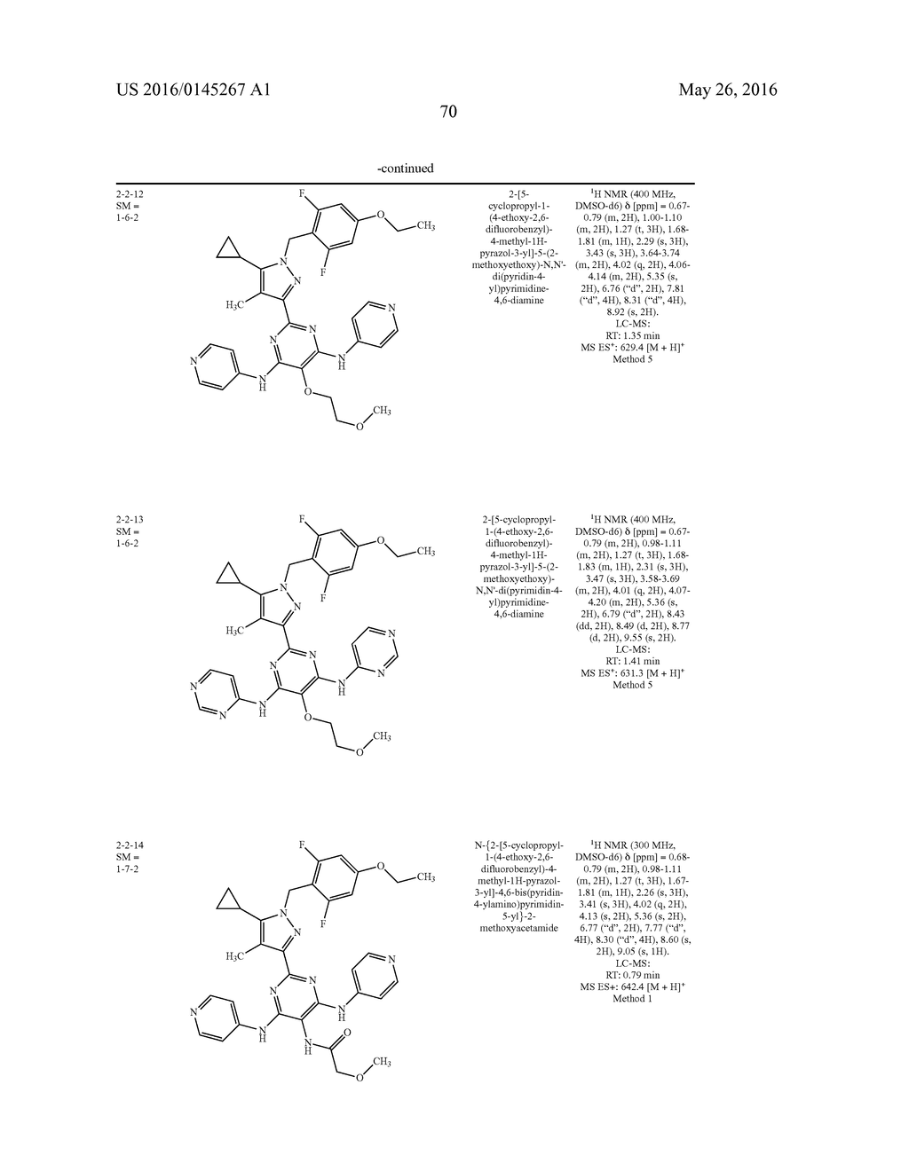 HETEROARYL SUBSTITUTED PYRAZOLES - diagram, schematic, and image 70