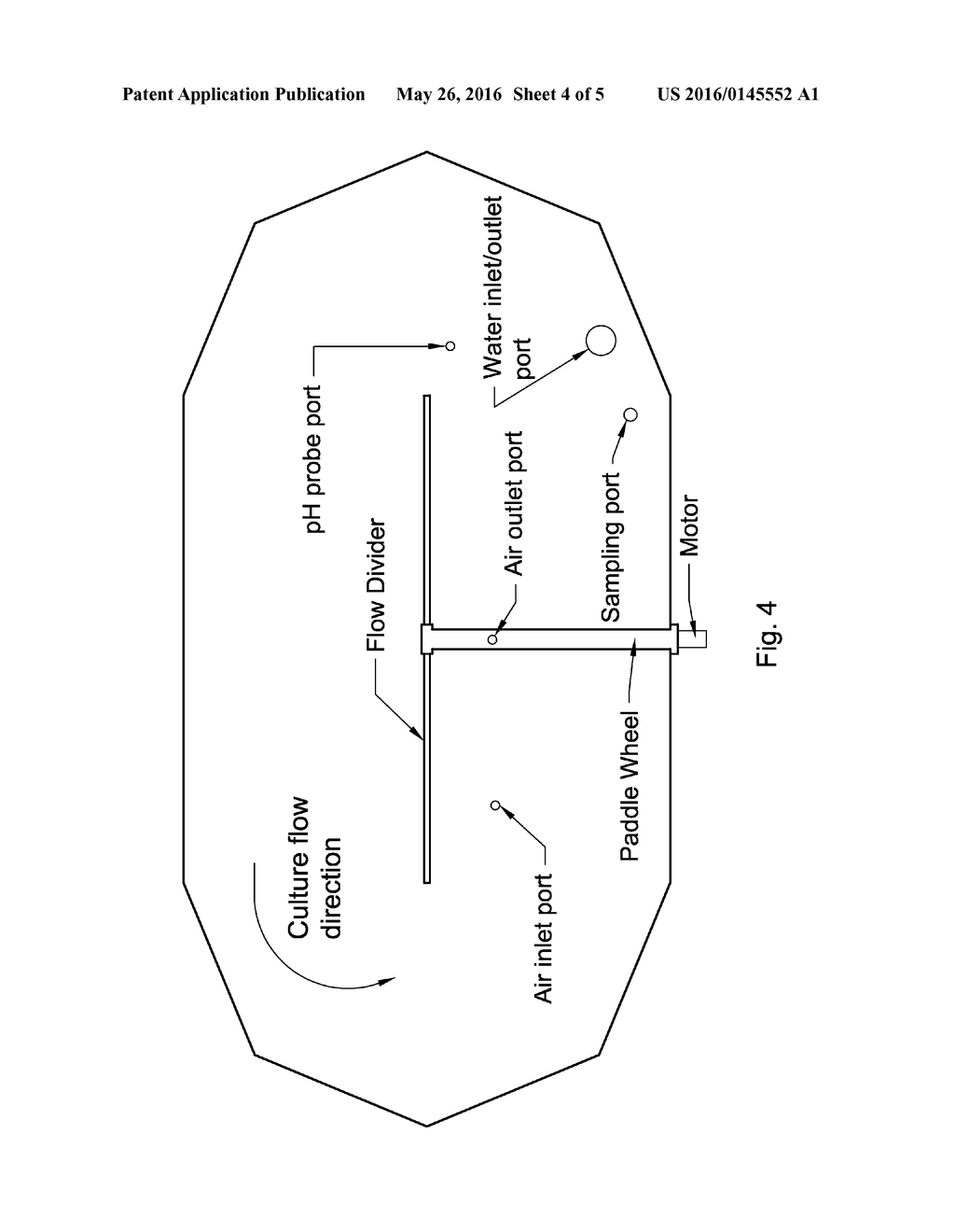 FLOATING PHOTOBIOREACTOR SYSTEM COMPRISING A FLOATING PHOTOBIOREACTOR AND     AN INTEGRATED PADDLE WHEEL AND AN AIRLIFT AND METHODS OF USE - diagram, schematic, and image 05