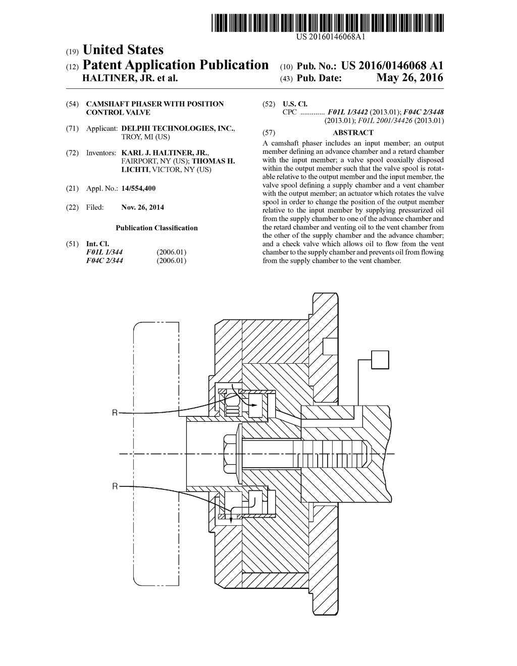 CAMSHAFT PHASER WITH POSITION CONTROL VALVE - diagram, schematic, and image 01