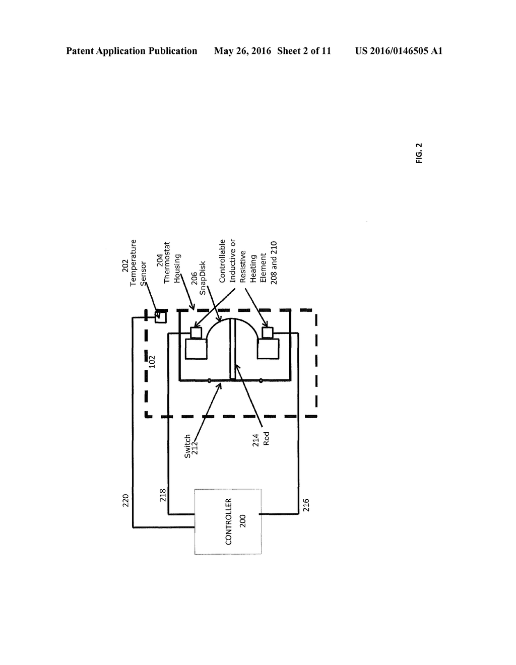 THERMOSTAT, WATER HEATER INCLUDING THE THERMOSTAT, AND METHOD OF     CONTROLLING THE TEMPERATURE OF WATER IN A WATER TANK OF THE WATER HEATER - diagram, schematic, and image 03