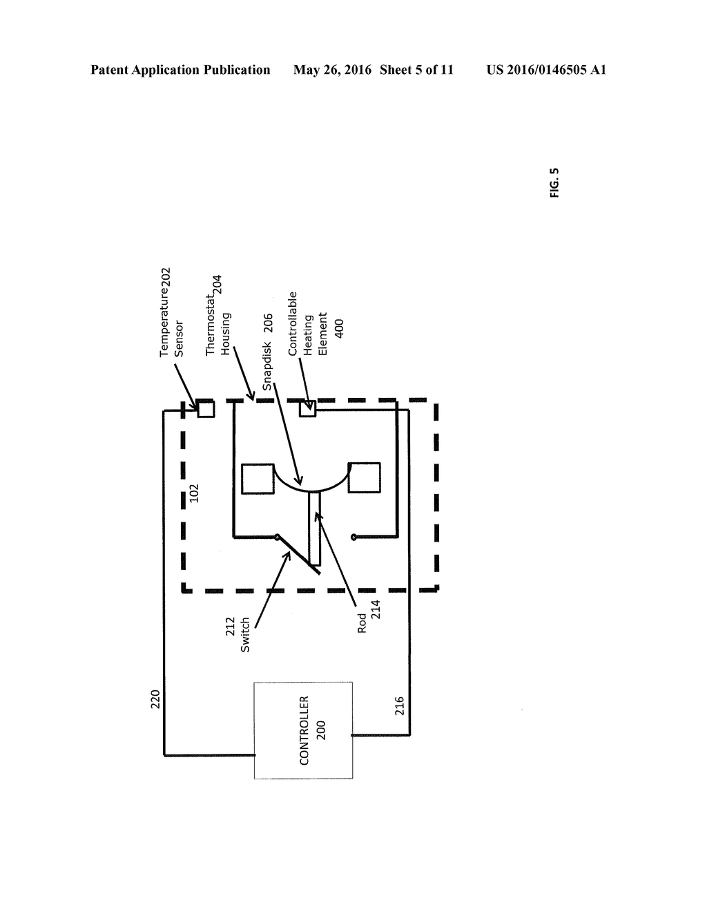 THERMOSTAT, WATER HEATER INCLUDING THE THERMOSTAT, AND METHOD OF     CONTROLLING THE TEMPERATURE OF WATER IN A WATER TANK OF THE WATER HEATER - diagram, schematic, and image 06