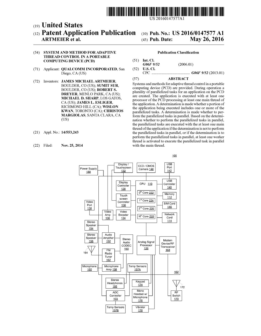 SYSTEM AND METHOD FOR ADAPTIVE THREAD CONTROL IN A PORTABLE ...