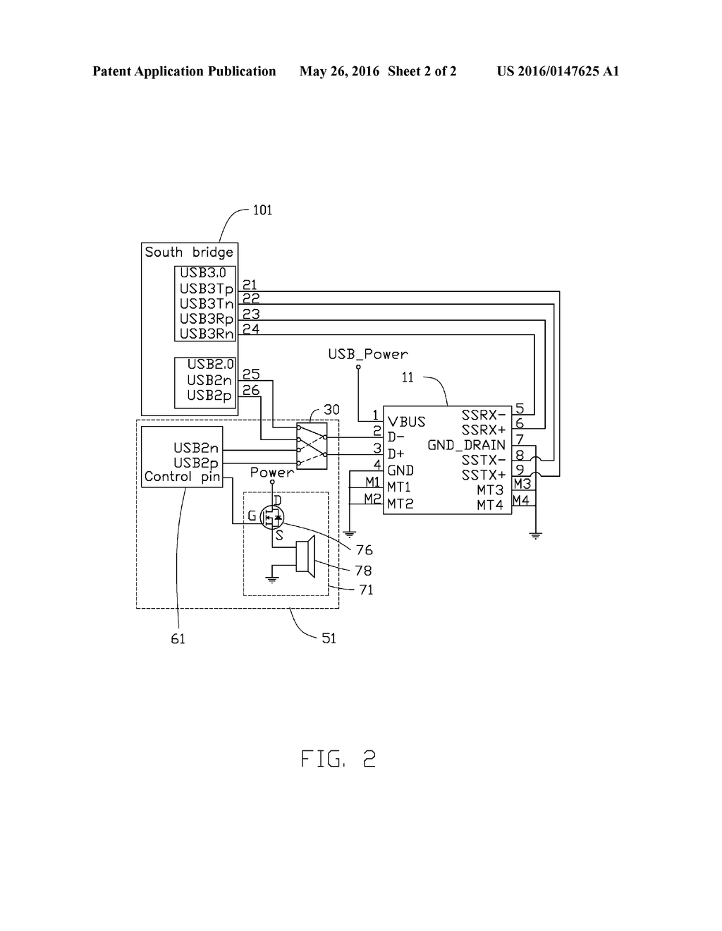DETECTING DEVICE FOR DETECTING USB 2.0 SPECIFICATION AND ELECTRONIC  APPARATUS WITH DETECTING DEVICE - diagram, schematic, and image 03