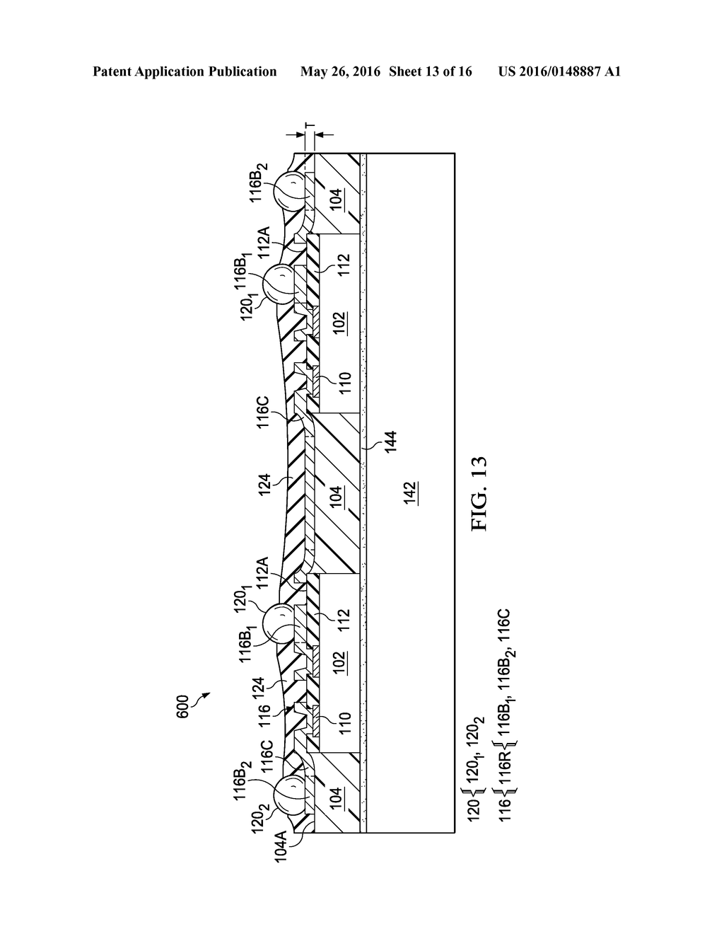 Device Package with Reduced Thickness and Method for Forming Same - diagram, schematic, and image 14